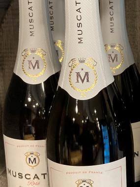Muscatine Rosé Fines Bulles, Vin de France, Effervescent Doux